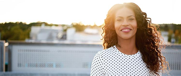 Photo of a smiling African American woman
