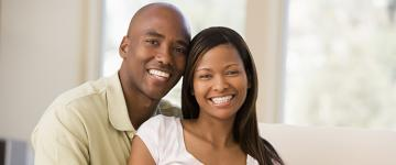 Photo of a smiling African American couple